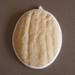 Oval Body Loofah with Hand Strap