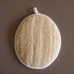 Oval Body Loofah with Pocket